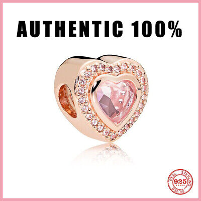AU28.69 • Buy Authentic Pandora Sparkling Pink Heart Charm ALE S925 New Pandora 2021
