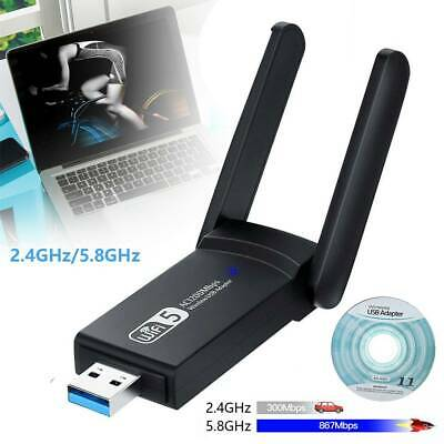 £10.29 • Buy 1200Mbps WiFi Dongle Wireless Adapter USB 3.0 Dual Band Fast Antenna Laptop PC