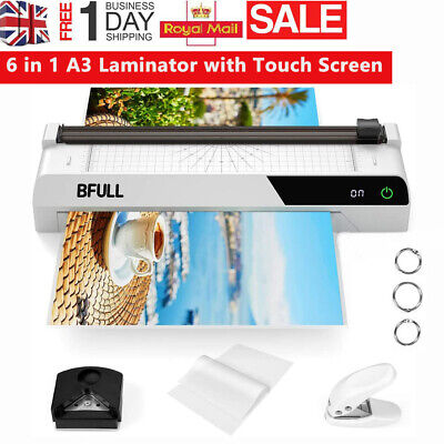 Touch Screen Laminator W/ 40 Pouches/Corner Rounder/Paper Trimmer Multifunction • 33.19£