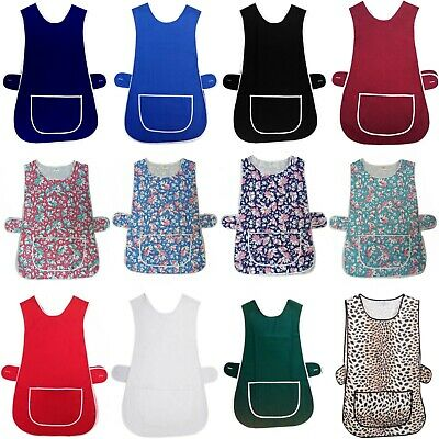 New Ladies Cleaning Kitchen Catering Front Pocket Washable Overall Tabard Apron  • 6.50£