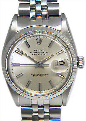 $ CDN5400.05 • Buy Rolex Vintage Datejust Steel Silver Dial USA Bracelet Mens 36mm Watch 1603