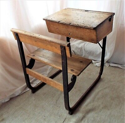 Vintage Traditional Combination School Desk With Fold Down Bench Seat • 190£
