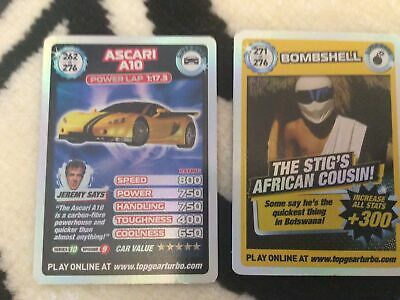 Top Gear Super Rare Cards 262and 271 • 9.99£