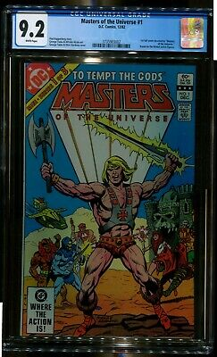 $125 • Buy Masters Of The Universe 1 Cgc 9.2 1st Full Comic Devoted Dc