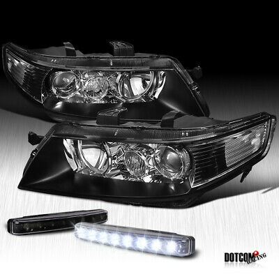 $167.99 • Buy 04-05 JDM Acura TSX Black Projector Headlight W/ Front LED Bumper Fog Lamp