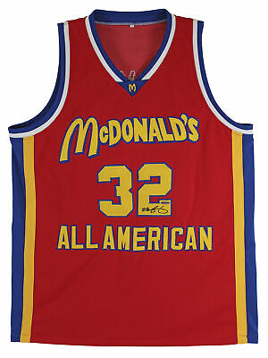 AU7288.71 • Buy Lakers Lebron James Signed Red McDonald's All American Jersey UDA & PSA #AE07237