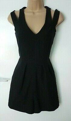 F&F Black Occasion Sleeveless Summer Holiday Mini Party Playsuit Size 6 • 4.99£