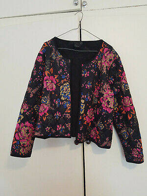 AU15 • Buy ASOS Curve Cropped Long Sleeve Floral Quilted Plus Size Jacket Top Size 20 22