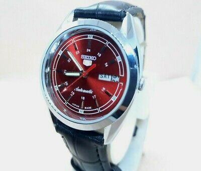 $ CDN20.96 • Buy VINTAGE RARE SEIKO 5 AUTOMATIC DAY-DATE WRIST WATCH PERFECT CONDITION Red
