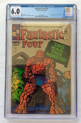 AU100 • Buy Marvel Comics Fantastic Four #51 CGC Grade 6.0 Off White-White Pages 6/66