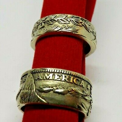 $20 • Buy Lot Of 2 Men's Size 8  Coin Style Rings