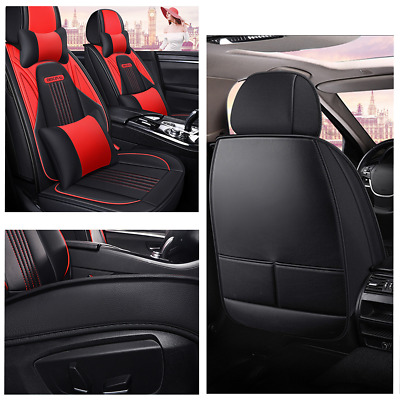 $ CDN194.26 • Buy Deluxe 5-Seat Car Protector Covers Cushion 5D Surround Breathable With Headrests