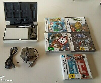 AU80 • Buy Nintendo Ds Lite With Hard Case, Wall & Car Charger ,5 Games