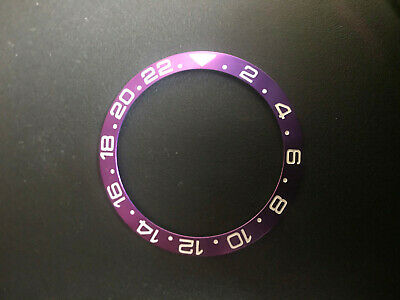 $ CDN32.59 • Buy One Purple Aluminum Bezel Insert With White Numbers For Gmt-master Ii Watch Case