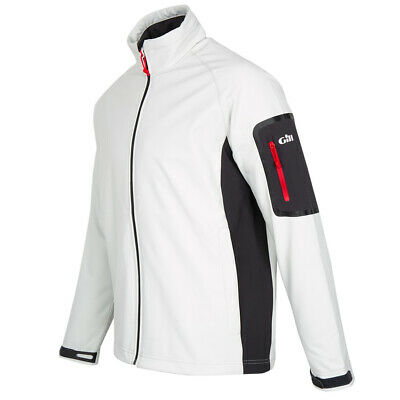 Gill Team Softshell Sailing Jacket Silver Cream UK L  RRP £115 (G101) • 45£