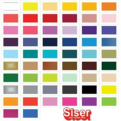 £1.74 • Buy A4 Vinyl Sheets - Siser Easyweed - HTV Iron On Heat Press -  57 Colour Choice