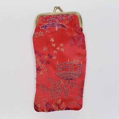 $ CDN23.67 • Buy Vintage Red Chinese Style Handbag Cigarette Case Purse Snap / Latch Close Asian