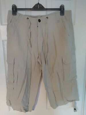 AIRWALK Men's Linen Mix Lightweight Cargo Long Shorts Size M/L Summer Cool • 3£
