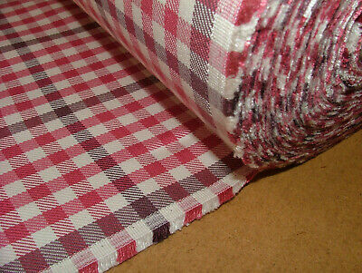 £13.99 • Buy Romo Fabric Berry Check Cotton Linen Fabric Curtain Upholstery Cushion