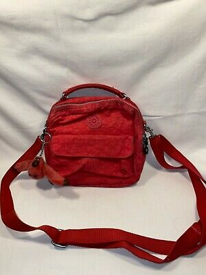 £34.99 • Buy Rare 1990's Kipling Messenger Bag With Monkey Charm In Pink Great Condition