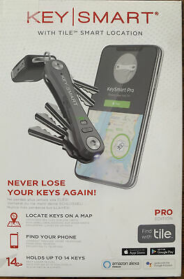 KeySmart Pro Ks411r Compact Key Organizer With Tile Smart Location Technology • 28.36£