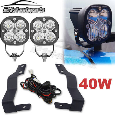 $56.94 • Buy High Power Hood Ditch LED Fog Light Pods Brackets Wire For 05-15 Toyota Tacoma