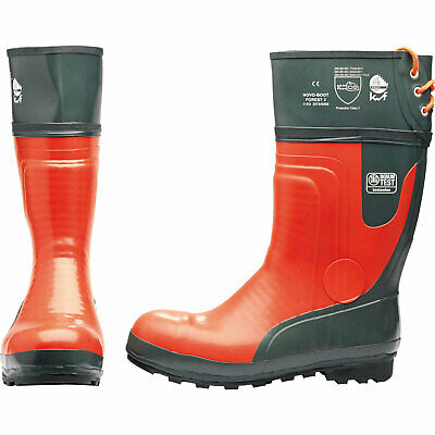 Draper Expert Mens Chainsaw Safety Boots Black / Orange Size 10 • 108.95£