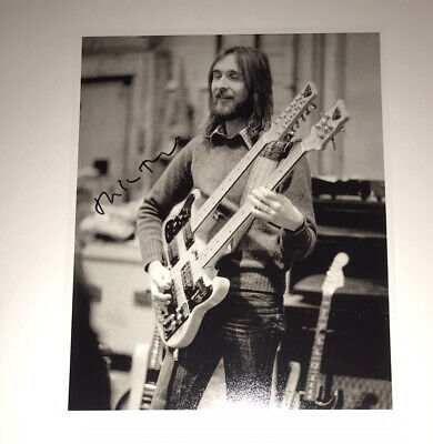 £24.99 • Buy SIGNED GENESIS 12x8 MIKE RUTHERFORD PHOTO RARE PROOF PHIL COLLINS GABRIEL
