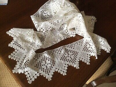 Hand Croched Lace Edging For Tablecloth  • 6£