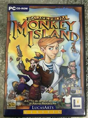 £44 • Buy Escape From Monkey Island PC-CDROM Vintage Retro Game LucasArts
