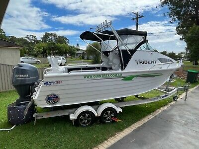 AU58900 • Buy 2015 Quintrex 610 Trident & 150 Hp Yamaha 4 Stroke Only 151 Hours