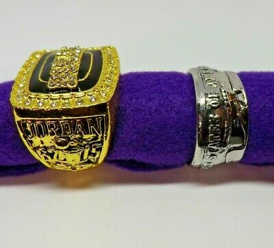 $24.95 • Buy Lot Of 2 Men's NOS Rings, Size 11. Coin And 1991-92 Championship Tribute Ring