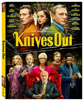 Knives Out  (Blu-Ray/DVD, 2020)  W/Digital  Daniel Craig  Chris Evans  Brand NEW • 6.40£