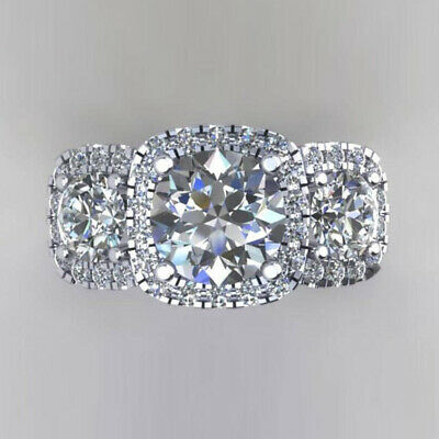 AU2316.65 • Buy 1.50Ct Real Diamond Engagement Ring Solid 14K White Gold Solitaire Rings 6 7