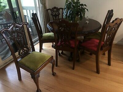 AU300 • Buy Antique Dining Table And Chairs