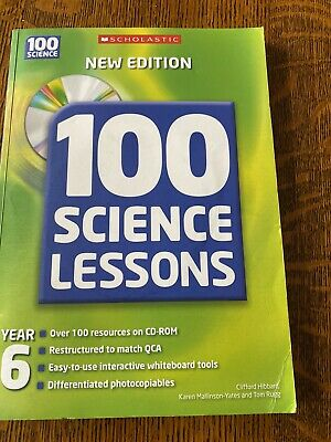 100 Science Lessons For Year 6 Scholastic Book + CD-ROM Of Resources Home School • 2.50£