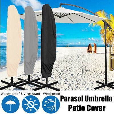 Banana Umbrella Cover Outdoor Garden Patio Cantilever Zipped Parasol  ❤ • 12.97£