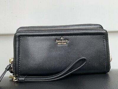 $ CDN68.18 • Buy New Kate Spade Wallet Patterson Drive Anita Black Wristlet