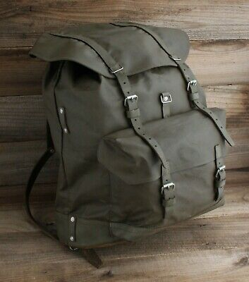 Vintage 1981 Swiss Military Rubberized Canvas Rucksack Backpack  • 128.09£