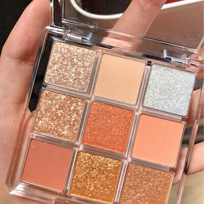 AU6.35 • Buy 9 Colors Matte Eyeshadow Makeup Kit Shimmer Glitter EyeShadow Powder Palette Gh4