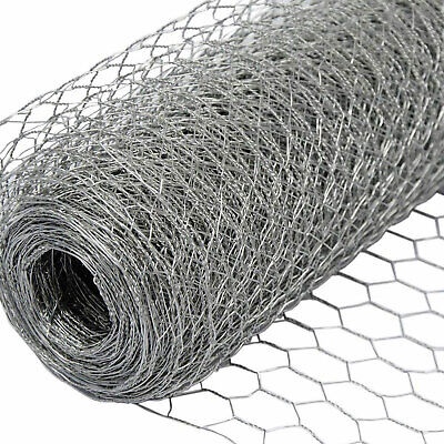 £13.98 • Buy Galvanized Chicken Wire Mesh Fence Net Rabbit Netting Fencing Cages Runs Pens