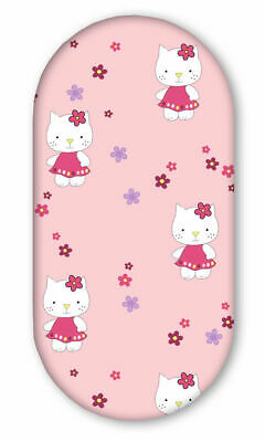 £4.99 • Buy COTTON FITTED BABY SHEET FIT MOSES BASKET PRAM 80x38cm Hello Kitty