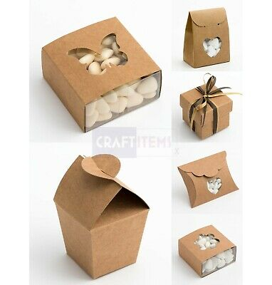 £7.69 • Buy Small Kraft Gift Boxes Wedding Favours Party Confectionary Empty Box Rustic DIY