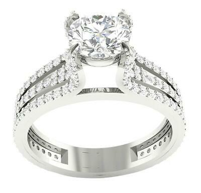 AU2042.98 • Buy Solitaire Engagement Ring Genuine Diamond I1 G 2.26 Carat 14K White Gold RS 8.50