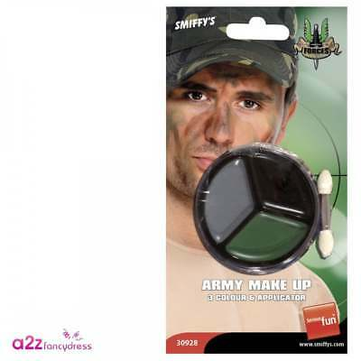 Army Camouflage Soldier Make-Up Facepaint Adult Unisex Fancy Dress Accessory • 4.99£