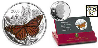 $40.57 • Buy 2005 Butterfly Colorized Monarch 50ct Silver Coin (11572)