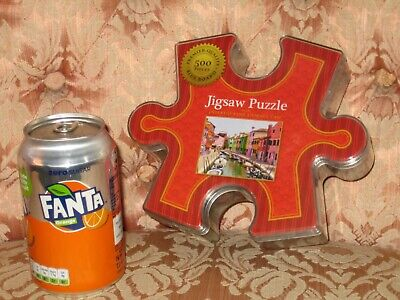 £9.99 • Buy Colorful Canal 500 Piece Micro Jigsaw Puzzle In Jigsaw Shaped Holder - NEW