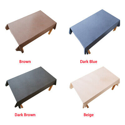 AU29.89 • Buy Easy Clean Cotton Linen Tablecloth Dining Table Cloth Dust Cover Waterproof AU