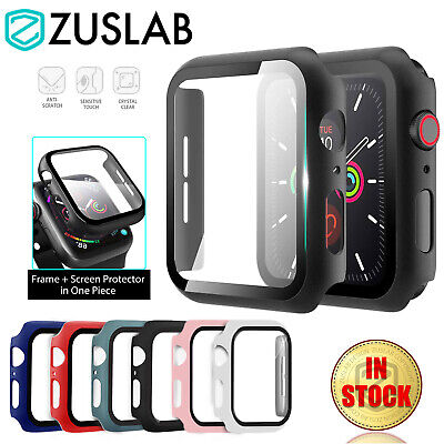 $ CDN8.41 • Buy For Apple Watch IWatch Series SE 6 5 4 3 2 1 Case Full Glass Cover 38 40 42 44mm