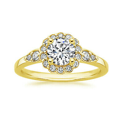 AU1120.92 • Buy 1.30 Ct Solitaire Diamond Engagement Ring Round Cut 14 K Yellow Gold Size 5 7 8